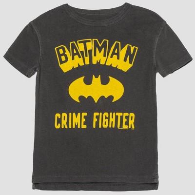 Toddler Boys' Junk Food DC Comics Batman Short Sleeve T-Shirt - Black 12M