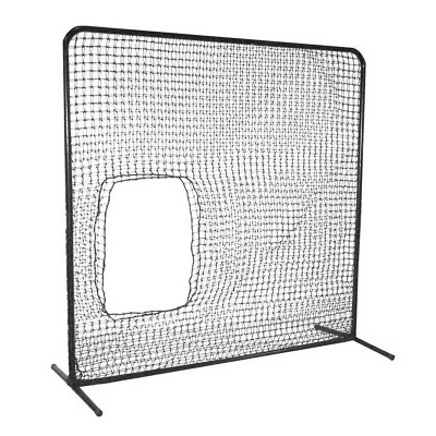 Cimarron Sports 7 x 7 Foot Underhand Softball Fast & Slow Pitch Protective Portable Pitching Screen Safety Netting Net and Frame