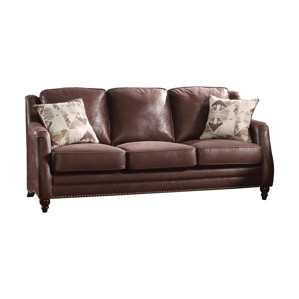 Acme Furniture Nickolas Sofa Chocolate Brown