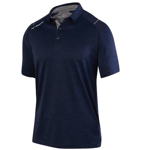 e71ca7a0a Mizuno Men's Comp Short Sleeve Polo Shirt, Size Large In Color Navy ...