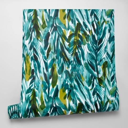 Leaves Peel & Stick Wallpaper Green - Opalhouse™ - image 1 of 4