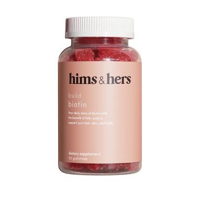 hims & hers Biotin Gummies - Cherry - 60ct