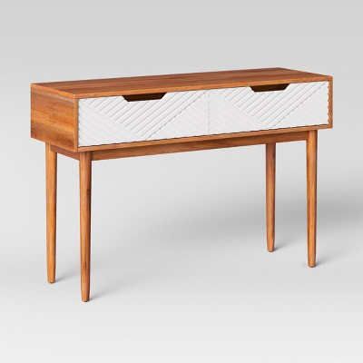 Touraco Console Table Brown/White - Opalhouse™ : Target