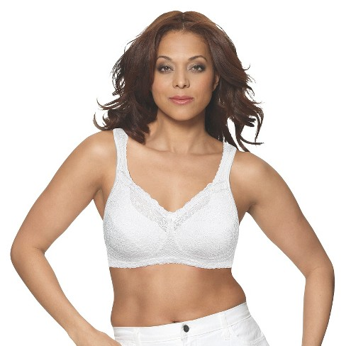 ffebede03f3ff Playtex® Women s 18 Hour Comfort Lace Bra 4088 White   Target