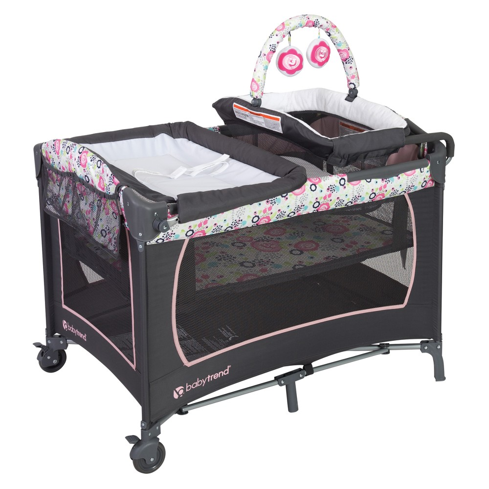 Image of Baby Trend Lil Snooze Deluxe Nursery Playard - Flora