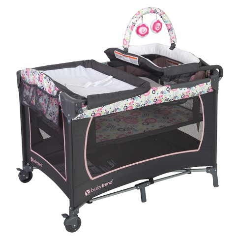 Baby Trend Lil Snooze Deluxe Nursery Playard - Flora - image 1 of 4