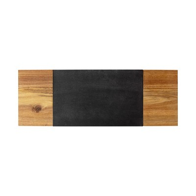 "Cathy's Concepts 8"" x 23.1"" Wood Charcuterie Board with Cheese Knife"