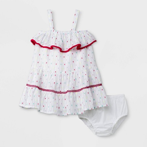 a9388393227b Baby Girls  Lurex Clispot Dress - Cat   Jack™ White   Target