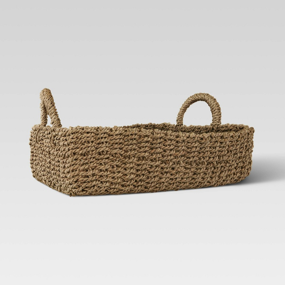 """Image of """"16.9"""""""" x 6.8"""""""" Decorative Woven Tray Natural - Threshold"""""""