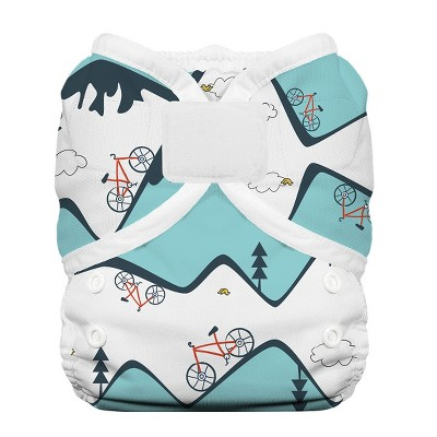 Thirsties Duo Wrap Hook & Loop Diaper, Size One - Mountain Bike