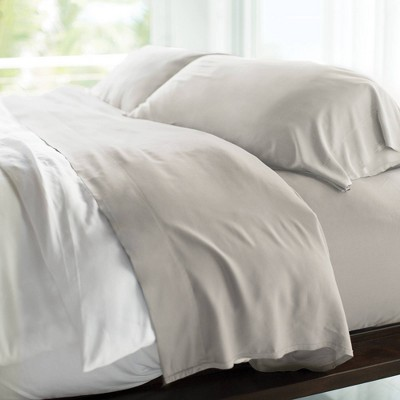 King 400 Thread Count 100% Rayon from Bamboo Resort Sheet Set Gray - Cariloha