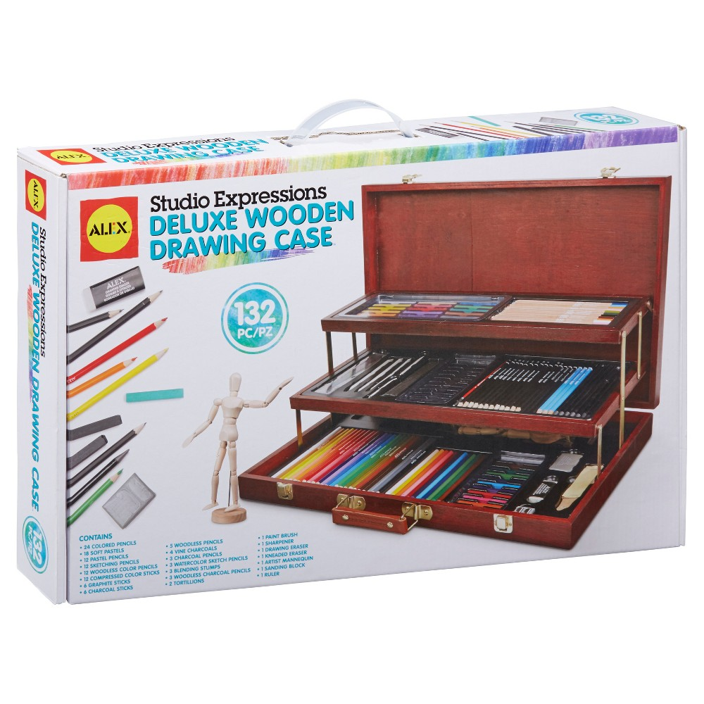 Image of ALEX Art Studio Expressions Deluxe Wooden Drawing Case