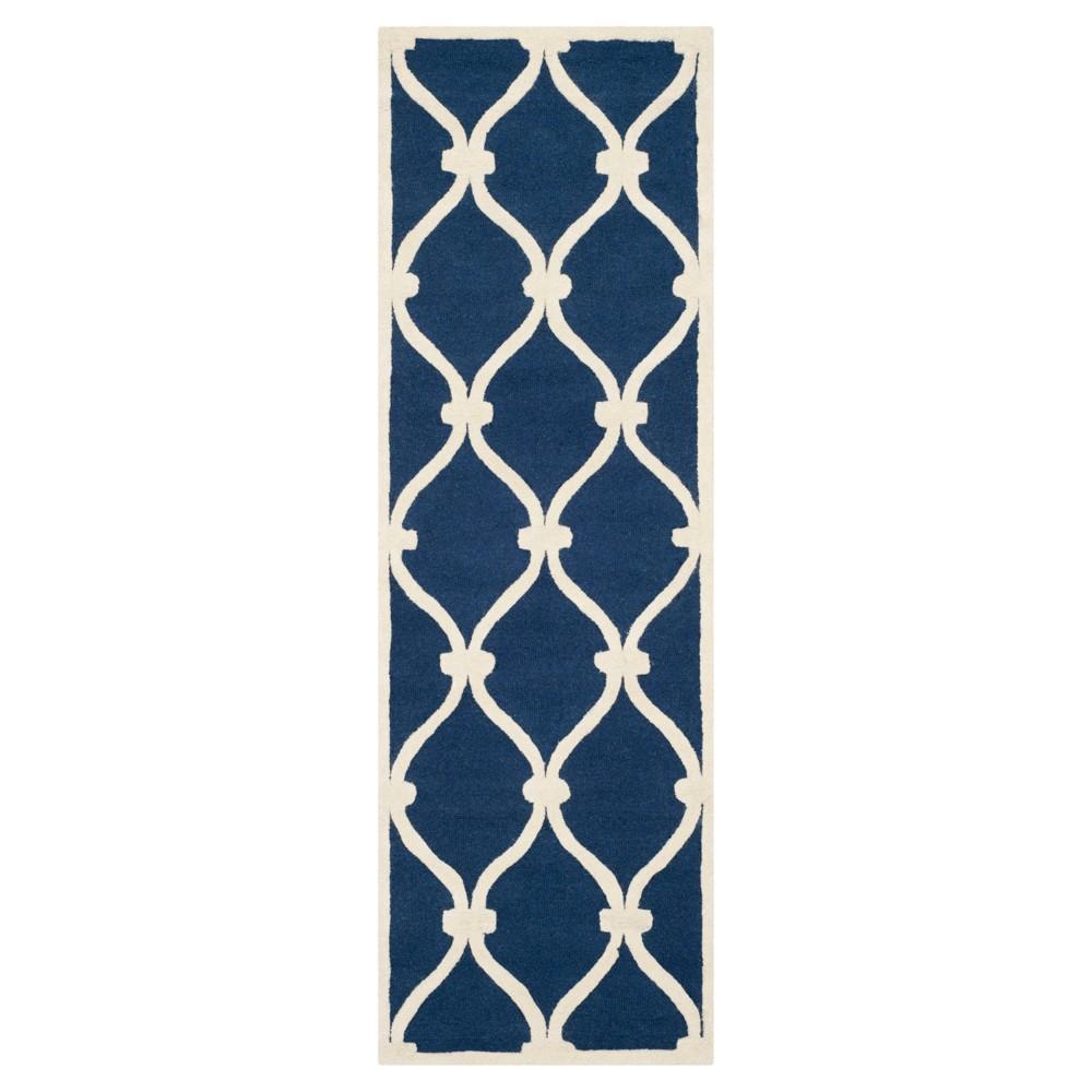 2'6X10' Trellis Runner Navy (Blue) - Safavieh