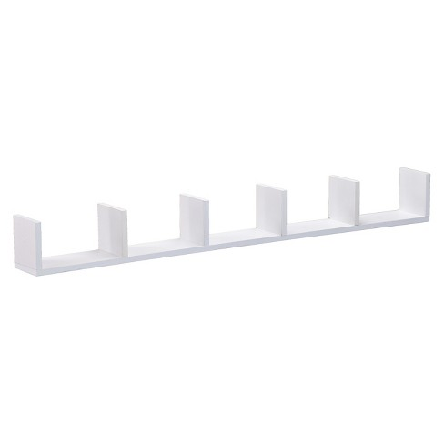 """48"""" x 4.7"""" Divided Wall Shelf White - Southern Enterprises - image 1 of 3"""