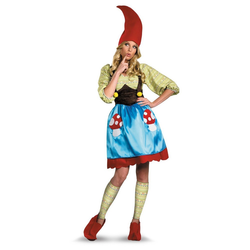 Women's Ms. Gnome Costume Small, Blue
