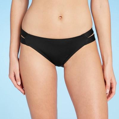 Women's Medium Coverage Double Tab Hipster Bikini Bottom - Kona Sol™