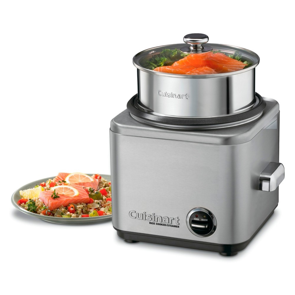 Image of Cuisinart 8 Cup Electric Rice Cooker - Stainless Steel CRC-800, Silver