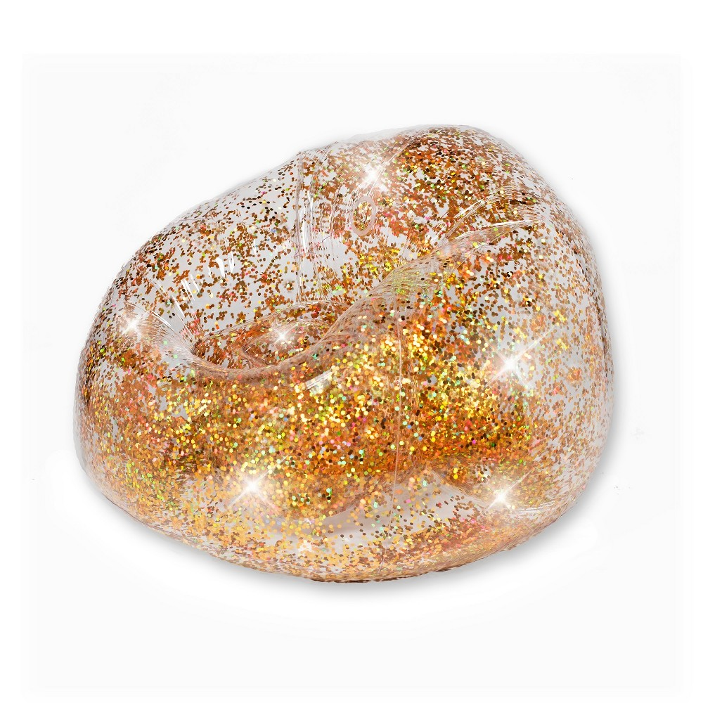 Image of Inflatable Glitter Chair Gold Glitter - Air Candy