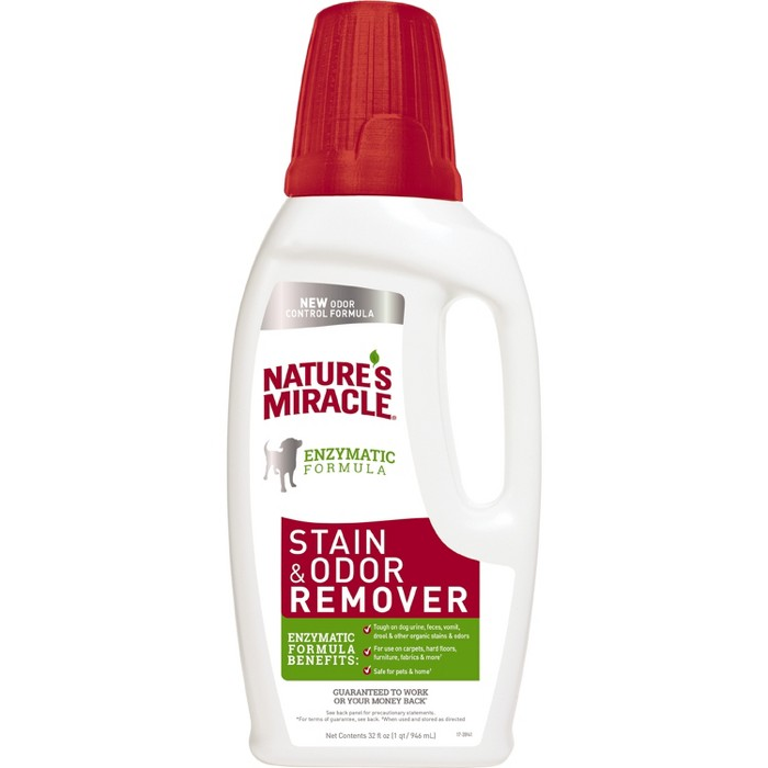 Nature's Miracle Pour Cat and Dog Stain and Odor Remover 32oz - image 1 of 3
