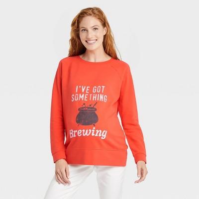 I've Got Something Brewing Graphic Maternity Sweatshirt - Isabel Maternity by Ingrid & Isabel™ Orange