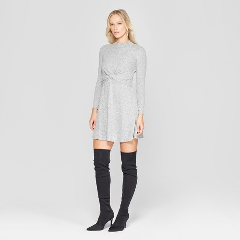 Women's Long Sleeve Twist Front Hacci Knit Dress - Xhilaration™ - image 1 of 2