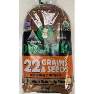 Papa Pita Organic Multigrain with Flax Seeds - 24oz