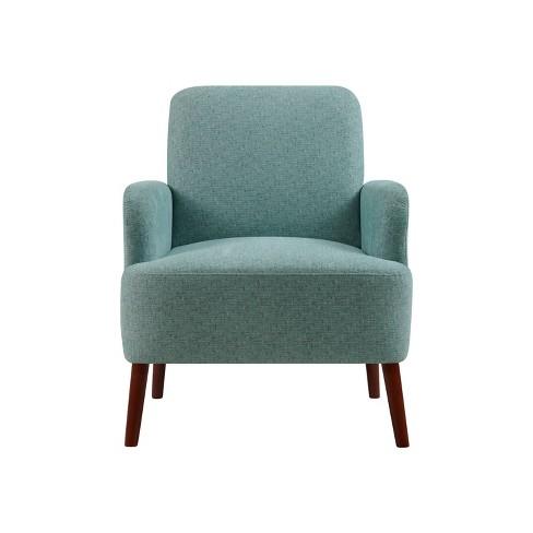Monvelli Arm Chair Aqua Green Tweed - Handy Living - image 1 of 4