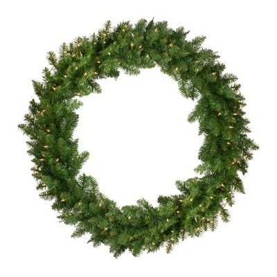 Northlight Pre-Lit Eastern Pine Artificial Christmas Wreath - 48-Inch, Clear Lights