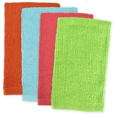 4pk Cotton Assorted Bright Barmop Dishtowels - Design Imports
