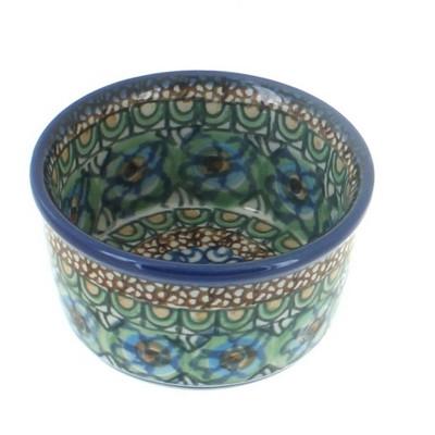 Blue Rose Polish Pottery Mardi Gras Small Deep Ramekin