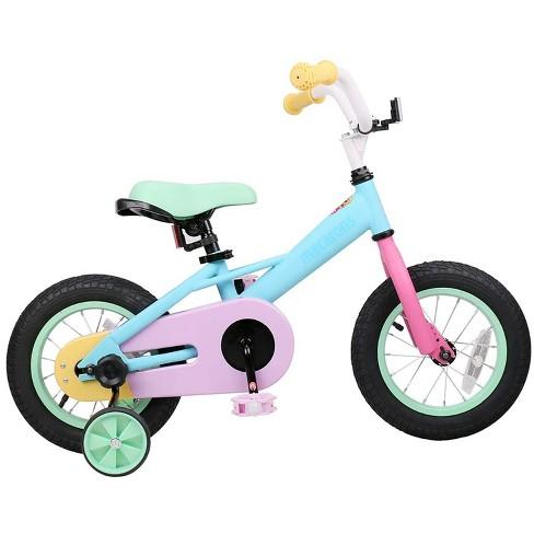 Joystar Macaroon 14 Inch Ages 3 to 5 Kids Boys Girls Toddler Balance Training Wheels Coast Brake Bike Bicycle, Pastel - image 1 of 4