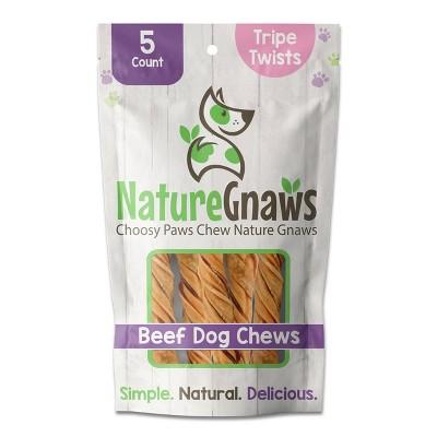 Nature Gnaws Beef Tripe Twists Dog Treats - 5ct