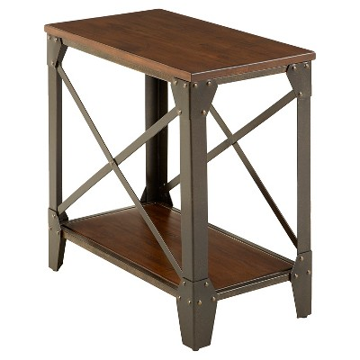 Winston Chairside End Table Rustic Cherry - Steve Silver