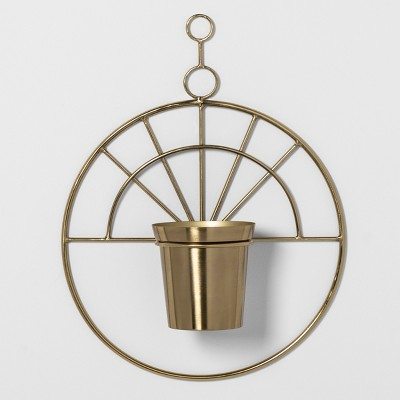 22.2  x 3.6  Decorative Metal Hanging Planter Gold - Project 62™