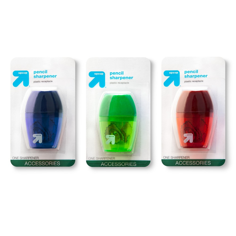 Pencil Sharpener 1 Hole 1ct Colors Vary - Up&Up, Multi-Colored