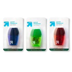 Pencil Sharpener 1 Hole 1ct Colors Vary - Up&Up™