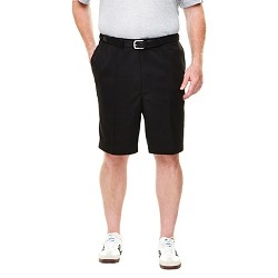 "Haggar H26 Men's Big & Tall 9"" Classic Fit Performance Shorts Black 52"
