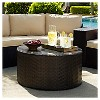 Catalina Wicker Round Coffee Table - Crosley - image 3 of 3