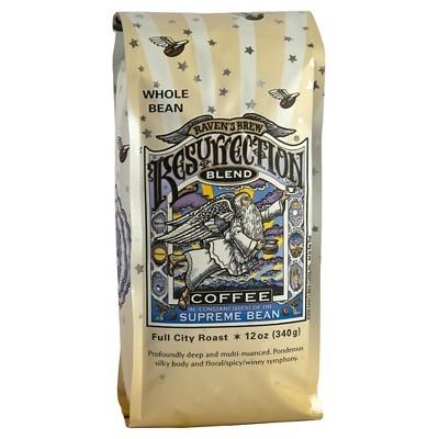 Raven's Brew Resurrection Blend Whole Bean Full City Medium Roast Coffee 12oz
