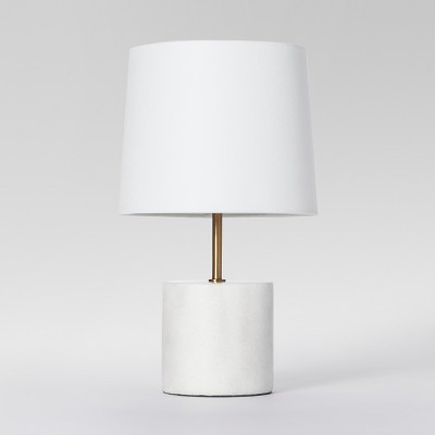 Modern Marble Accent Table Lamp White Includes Energy Efficient Light Bulb - Project 62™