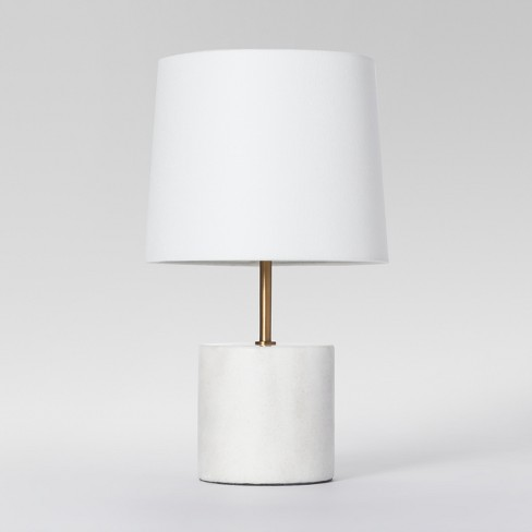 Modern Marble Accent Table Lamp White Includes Energy