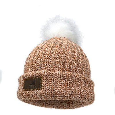 Arctic Gear Youth Winter Hat Cotton Cuff with Pom