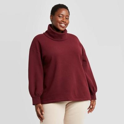 Women's Plus Size Leisure Tunic Sweatshirt - Ava & Viv™