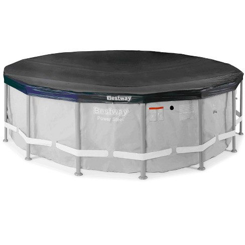 Bestway 58249E Round PVC 16 Foot Pool Cover for Above Ground Pro Frame Pools