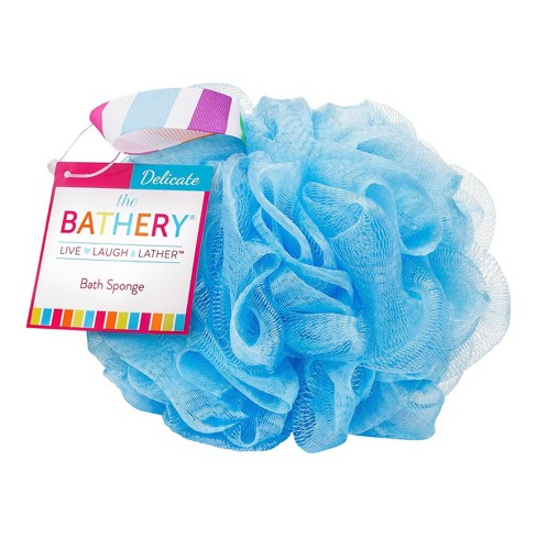 The Bathery Delicate Bath Sponge - Blue - image 1 of 3