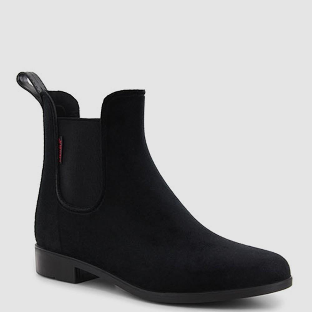 Women's Chooka Vivien Velvet Chelsea Rain Boot - Black 8