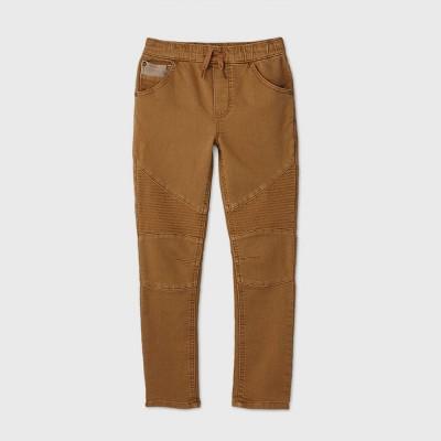 Boys' Skinny Mid-Rise Moto Jeans - art class™ Khaki