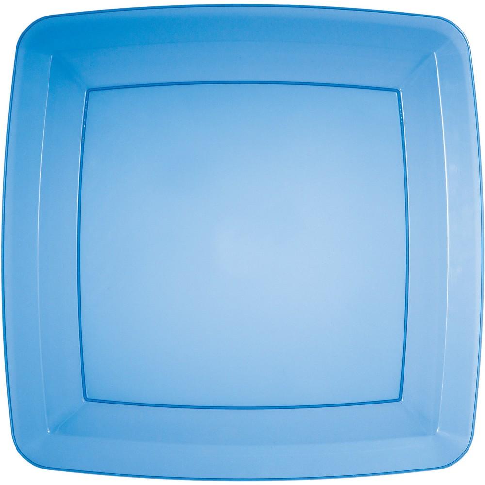 24ct Translucent Blue Banquet Plates Blue