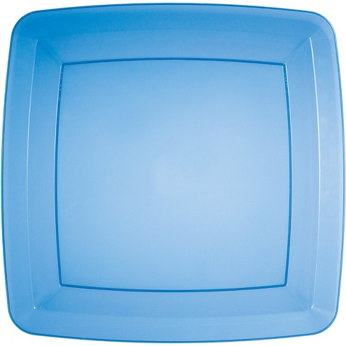 24ct Translucent Blue Banquet Plates Blue - image 1 of 3
