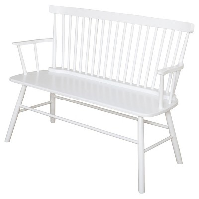 Shelby Bench Wood/White - TMS
